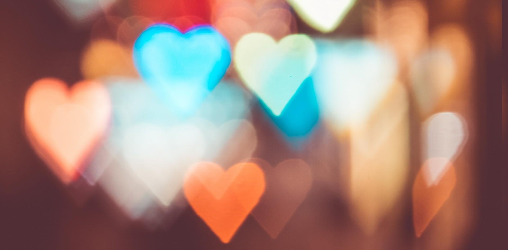 сердце, молитва, огоньки