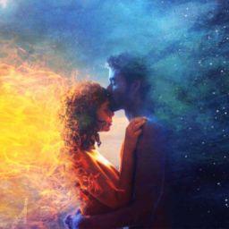 близнецовые пламена, любовь, поцелуй